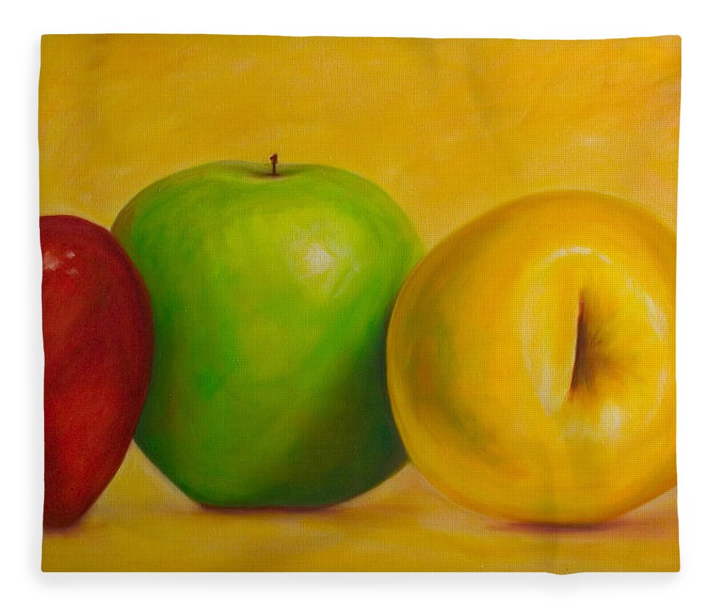 Still Life Fleece Blanket featuring the painting Chorus Line by Shannon Grissom