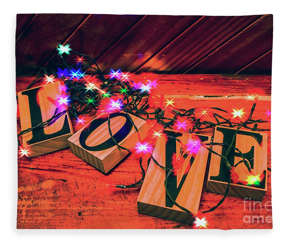Christmas Fleece Blanket featuring the photograph Christmas Love Decoration by Jorgo Photography - Wall Art Gallery