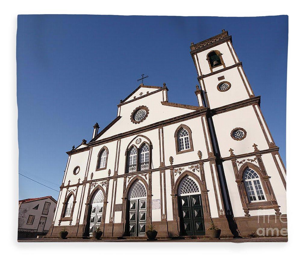 Santo Antonio Nordestinho Fleece Blanket featuring the photograph Church In Azores Islands by Gaspar Avila