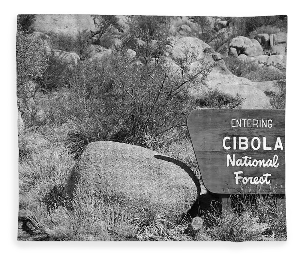 Black And White Fleece Blanket featuring the photograph Cibola National Forest by Rob Hans