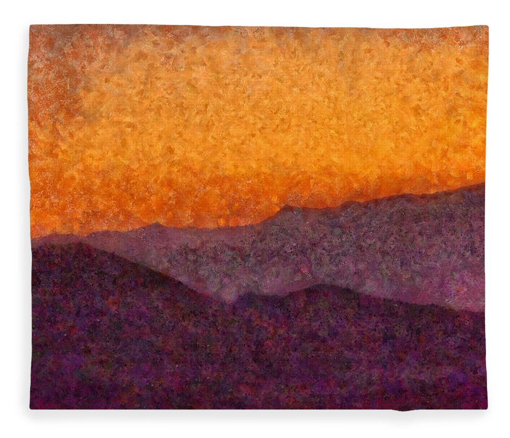 Savad Fleece Blanket featuring the photograph City - Arizona - Rolling Hills by Mike Savad