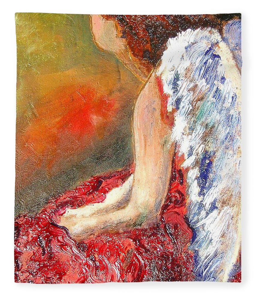Angels Fleece Blanket featuring the painting Clarity Of Thought by J Bauer