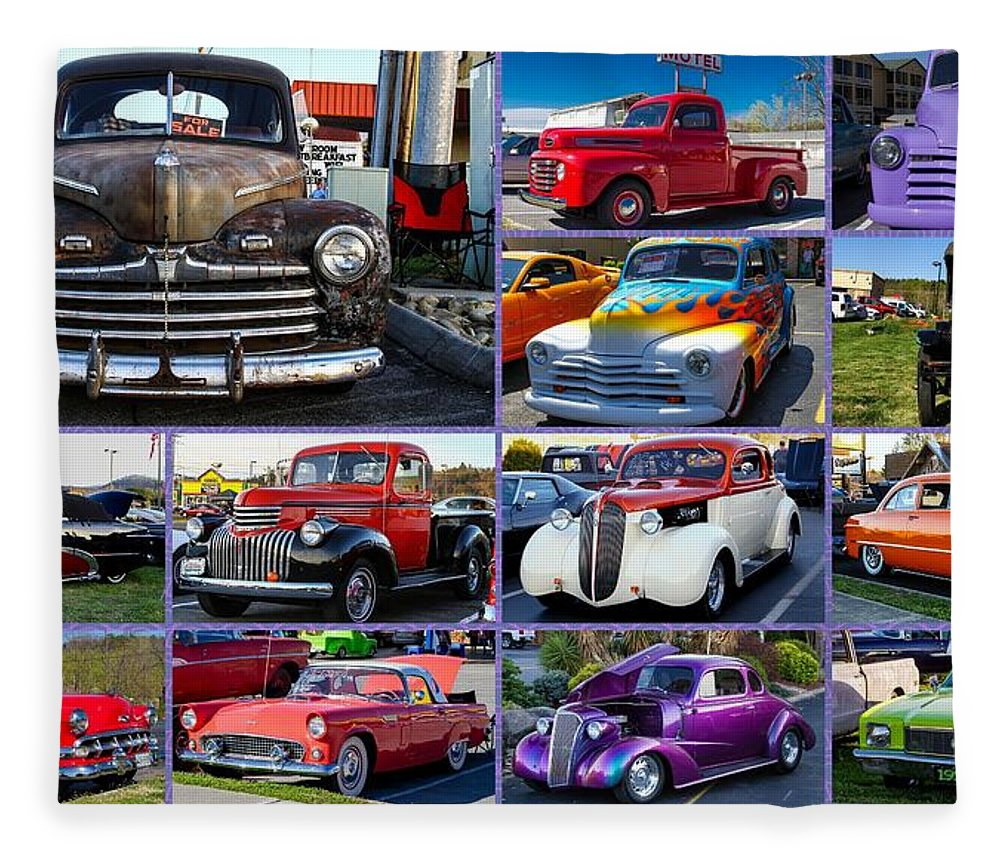 Cars Fleece Blanket featuring the photograph Classic Cars by Robert L Jackson
