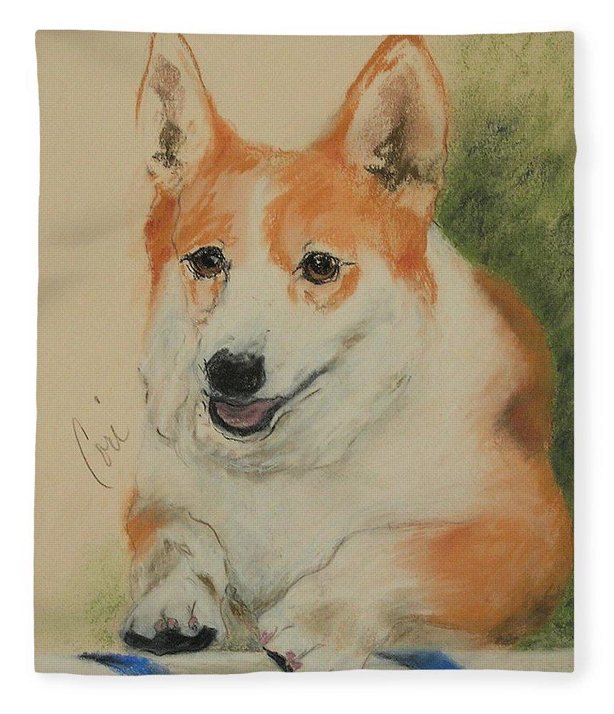 Pastel Fleece Blanket featuring the drawing Clear Run by Cori Solomon