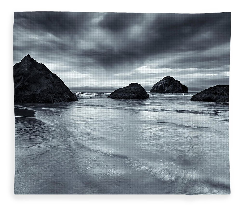 Beach Fleece Blanket featuring the photograph Clearing Storm by Mike Dawson