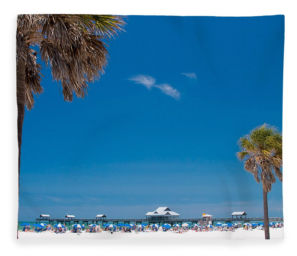 3scape Fleece Blanket featuring the photograph Clearwater Beach by Adam Romanowicz