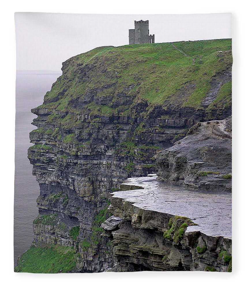 Cliff Fleece Blanket featuring the photograph Cliffs Of Moher Ireland by Charles Harden