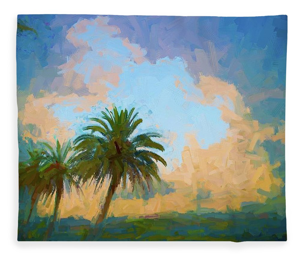 Alicegipsonphotographs Fleece Blanket featuring the photograph Clouds On The Loop by Alice Gipson