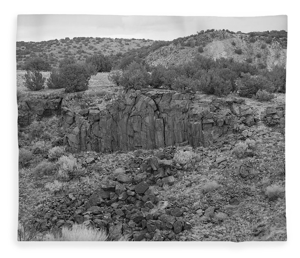 Rocks Fleece Blanket featuring the photograph Cochiti Rocks by Rob Hans