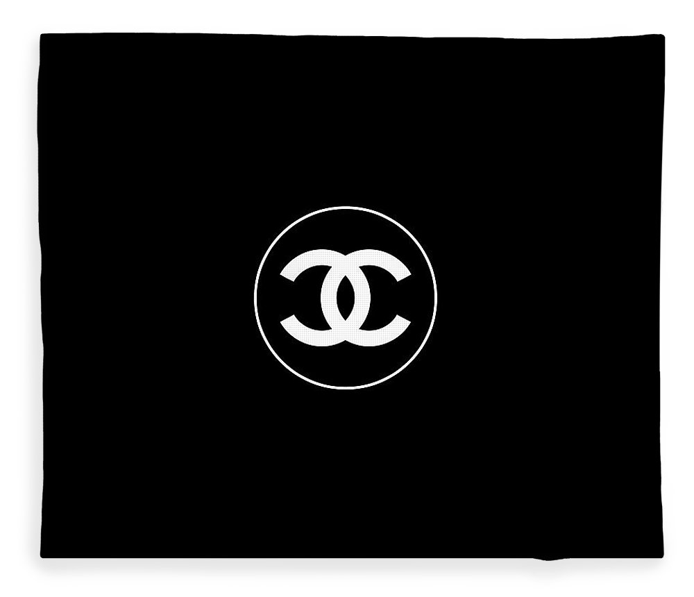 Chanel Fleece Blanket featuring the digital art Coco Chanel by Tres Chic