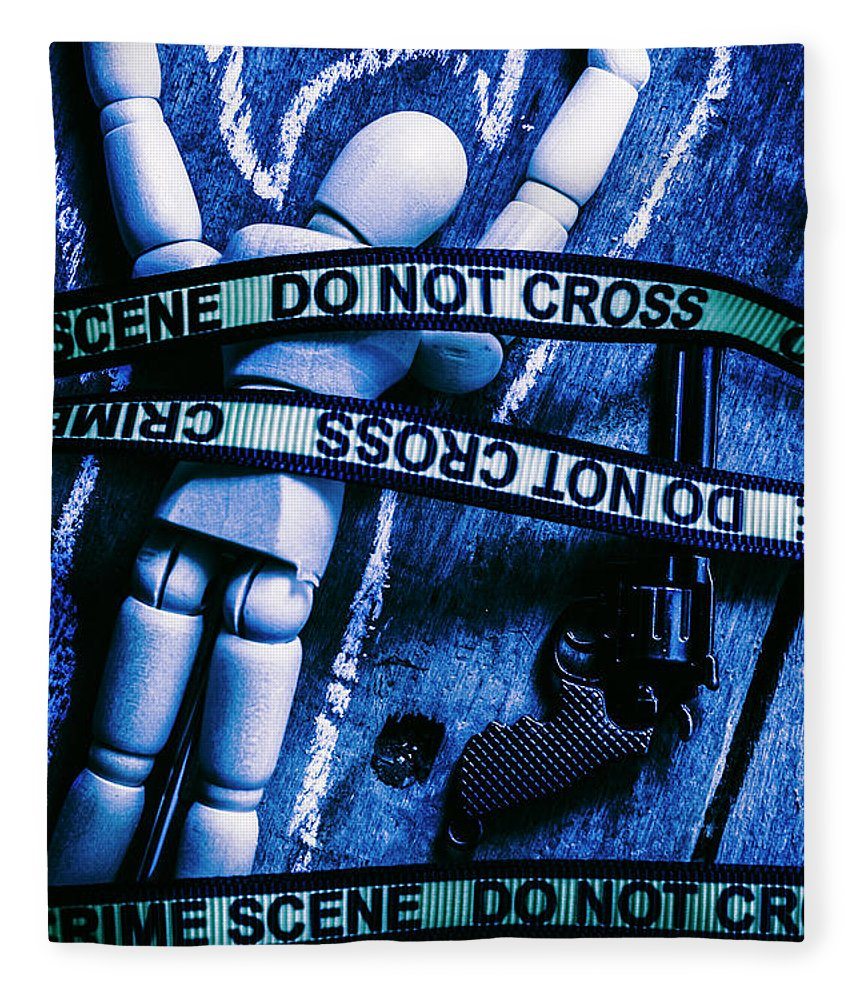 Gun Fleece Blanket featuring the photograph Code Blue Csi by Jorgo Photography - Wall Art Gallery