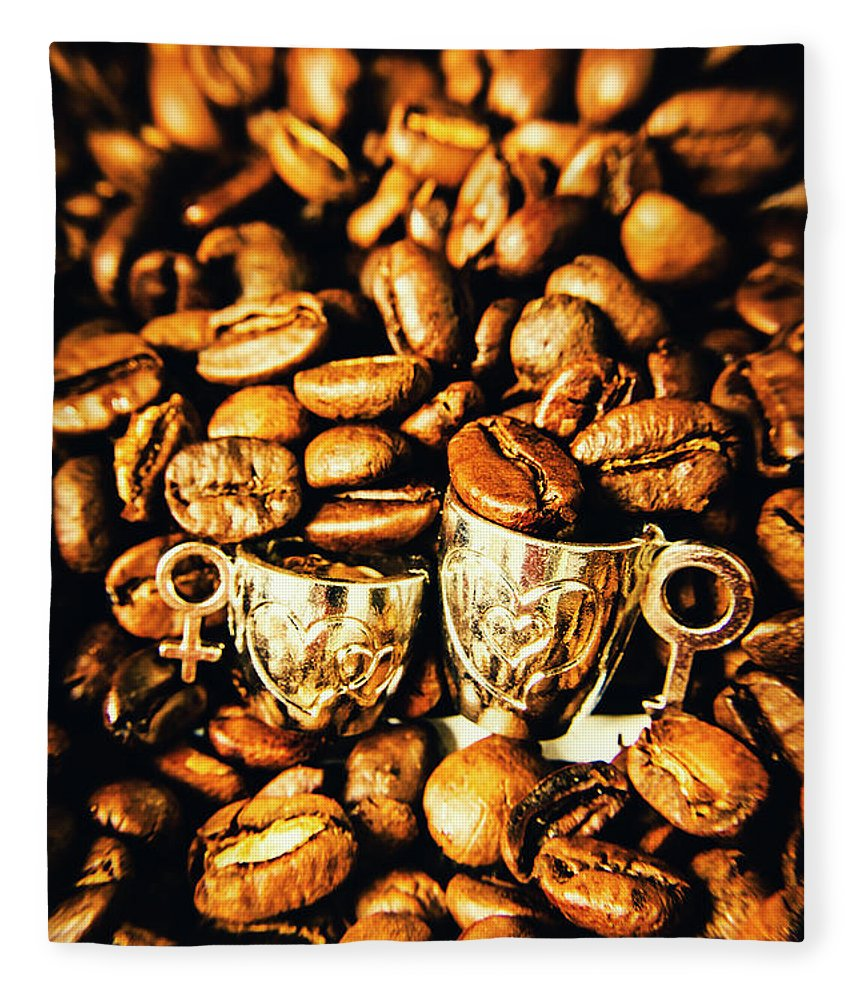 Cup Fleece Blanket featuring the photograph Coffee Shop Companions by Jorgo Photography - Wall Art Gallery