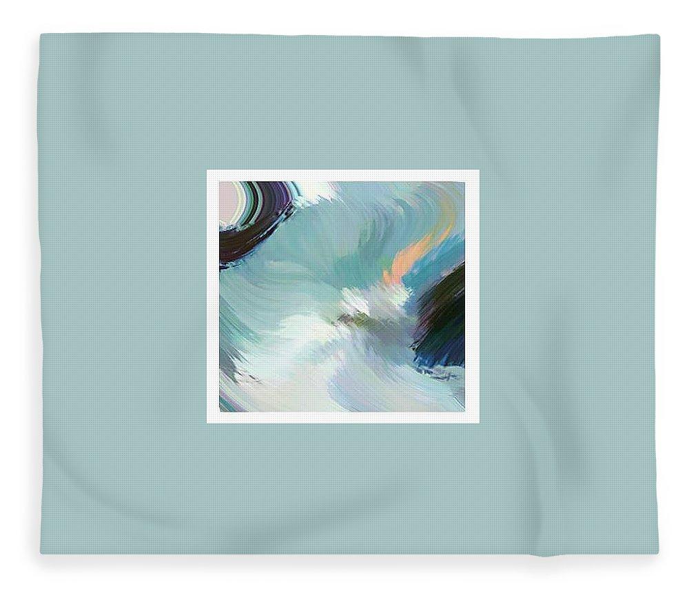 Landscape Digital Art Fleece Blanket featuring the digital art Color Falls by Anil Nene
