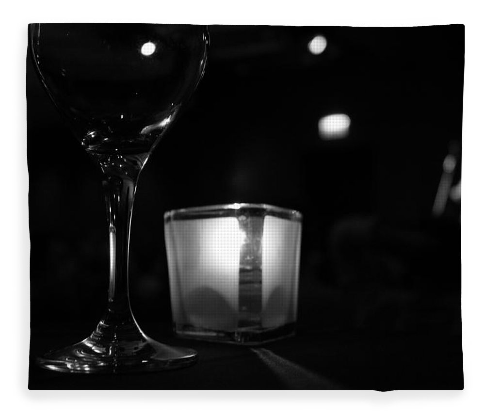 Candle Fleece Blanket featuring the photograph Concert Ambiance by Lauri Novak