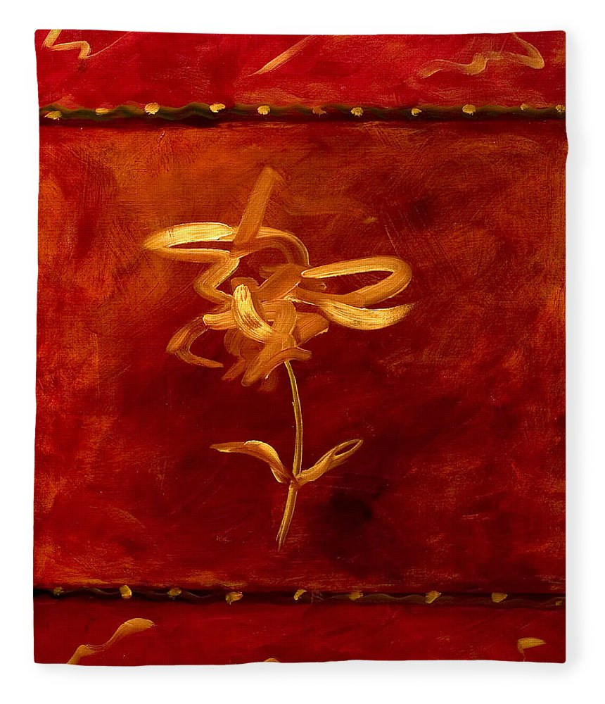 Abstract Fleece Blanket featuring the painting Confidence by Shannon Grissom