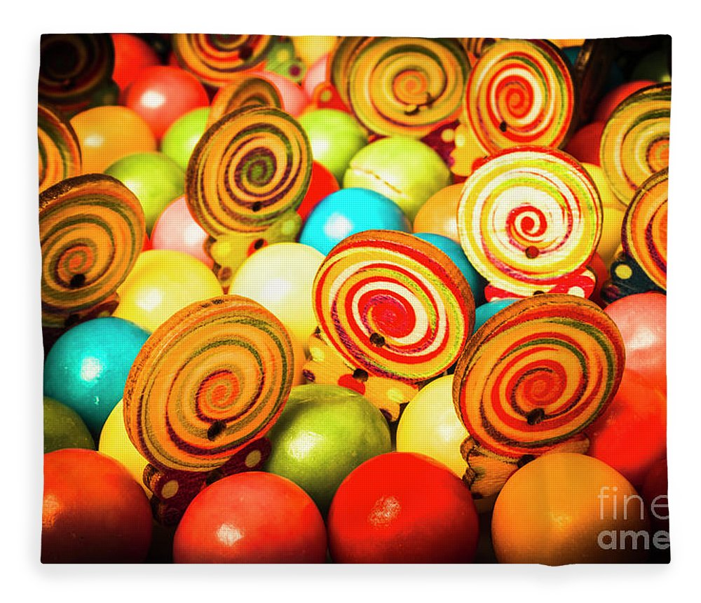 Colourful Fleece Blanket featuring the photograph Corner Store Candies by Jorgo Photography - Wall Art Gallery