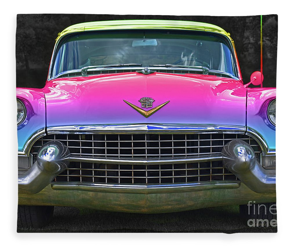Cotton Candy Rainbow, Cadillac Flavours Fleece Blanket for Sale by