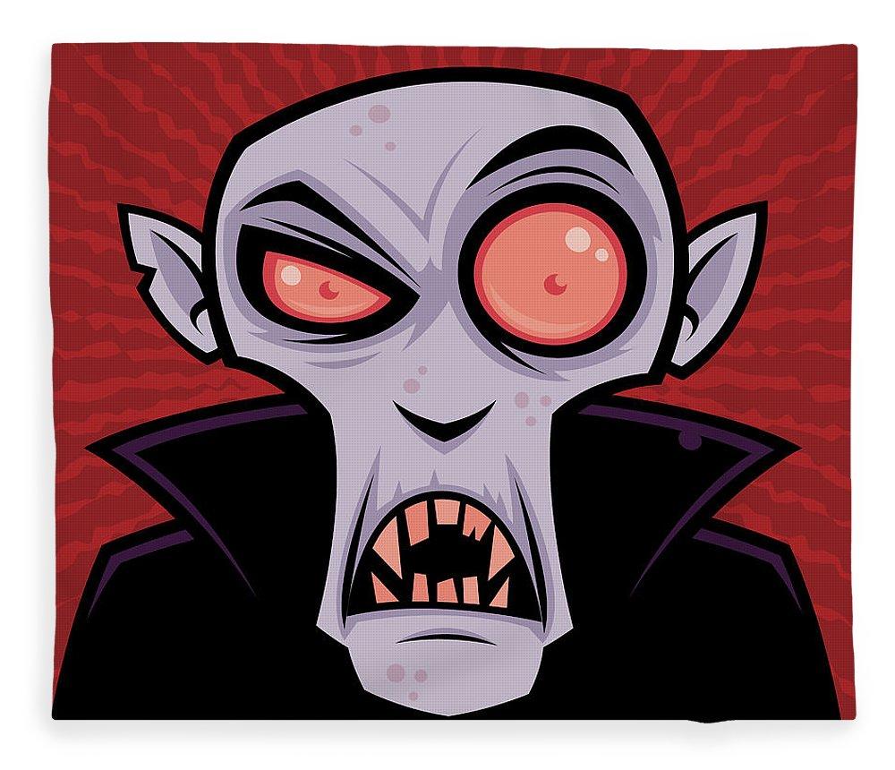 Dracula Fleece Blanket featuring the digital art Count Dracula by John Schwegel