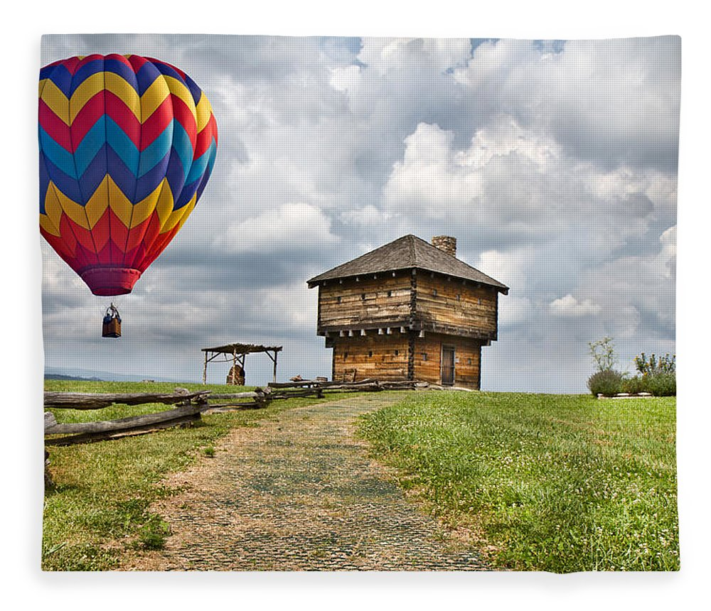 Hot Fleece Blanket featuring the digital art Country Cruising by Betsy Knapp