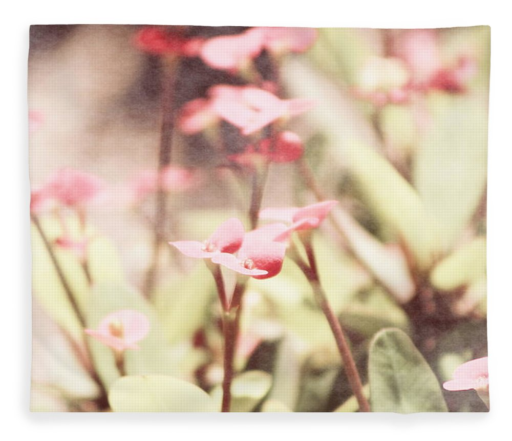 Prism Pink Fleece Blanket featuring the photograph Country Memories in Prism Pink by Colleen Cornelius