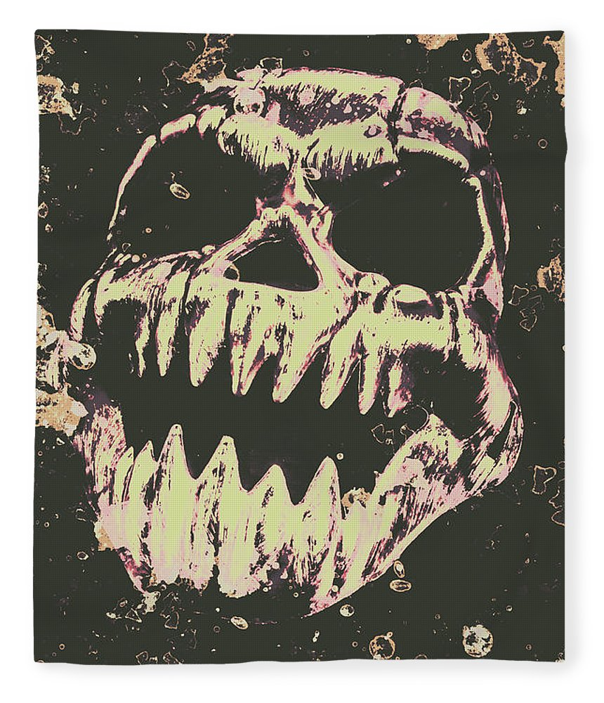 Monster Fleece Blanket featuring the photograph Creepy Face From Nightmares Past by Jorgo Photography - Wall Art Gallery