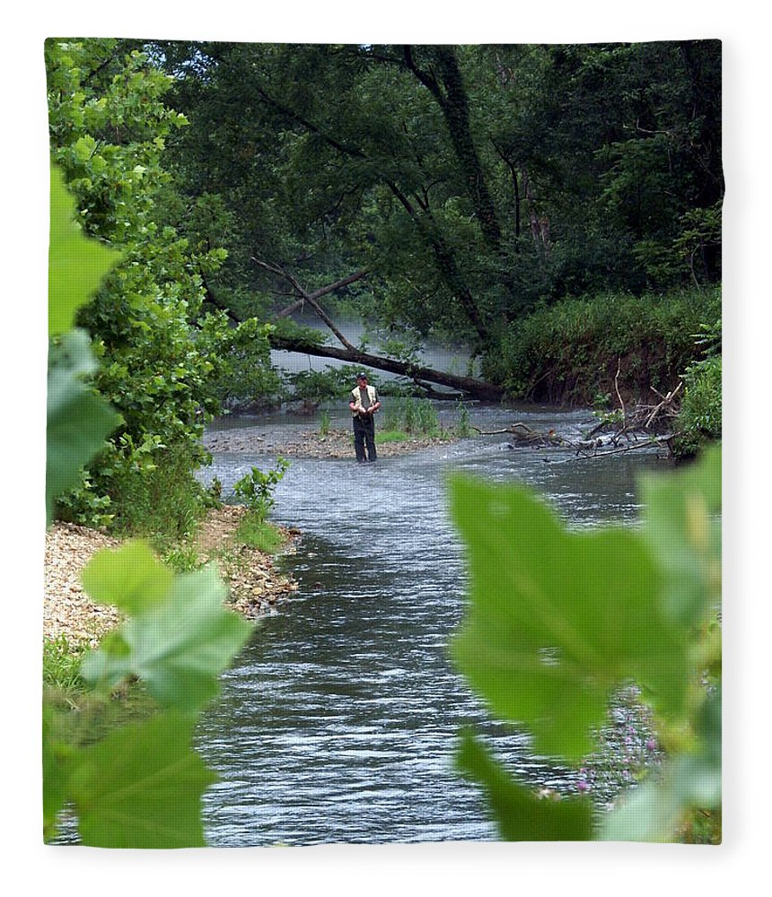 Current River Fleece Blanket featuring the photograph Current River 5 by Marty Koch