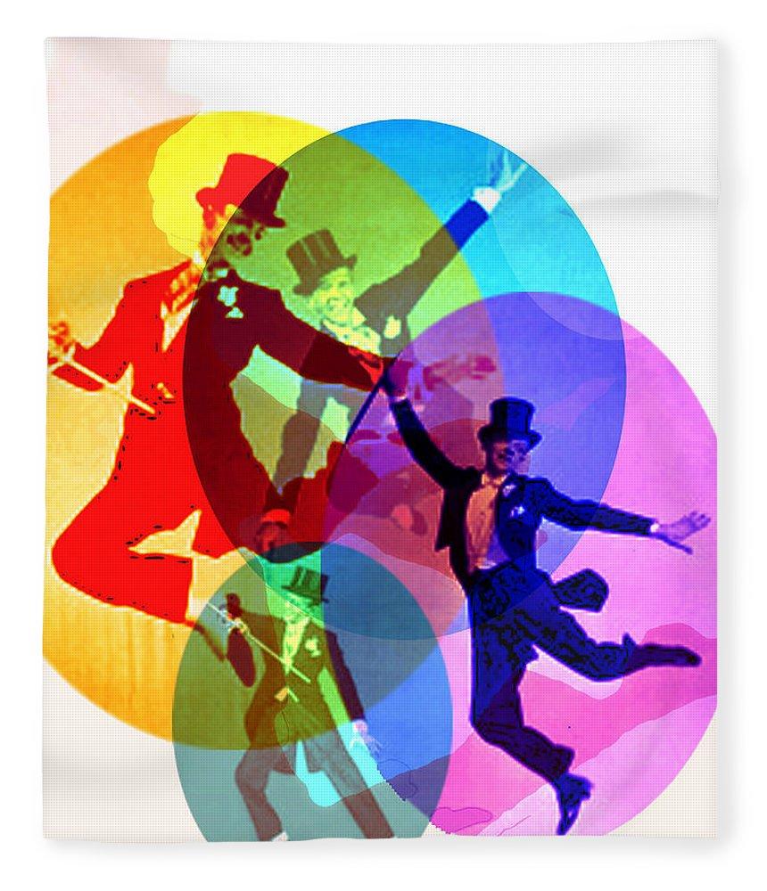 Dancing On Air Fleece Blanket featuring the digital art Dancing on Air by Seth Weaver