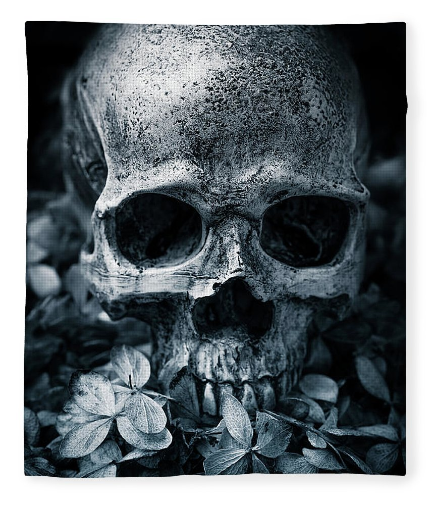 Morbid Fleece Blanket featuring the photograph Death Comes To Us All by Edward Fielding