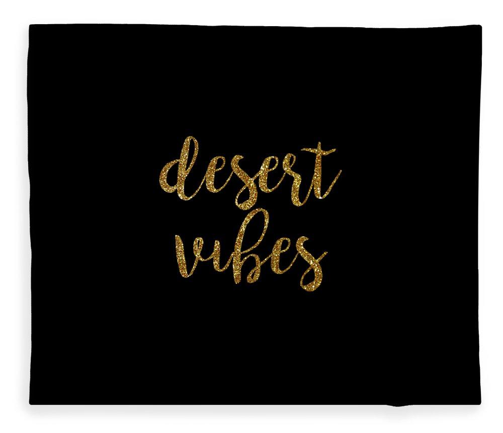 Text Fleece Blanket featuring the digital art Desert Vibes 2 by Cortney Herron
