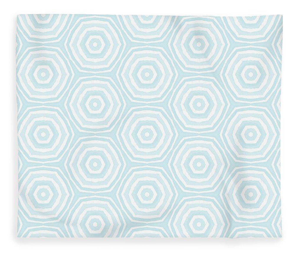 Circles Fleece Blanket featuring the digital art Dip In The Pool - Pattern Art by Linda Woods by Linda Woods