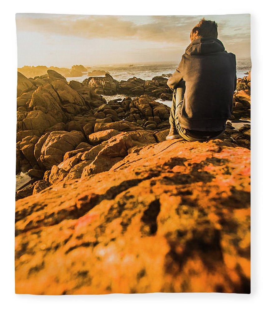 Beach Fleece Blanket featuring the photograph Discovering Wonderful Tasmania by Jorgo Photography - Wall Art Gallery