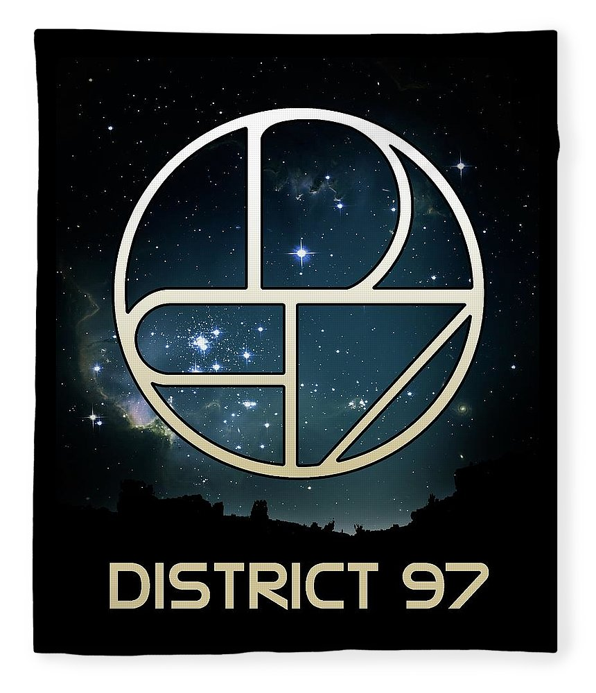 Fleece Blanket featuring the digital art District 97 Logo by District 97