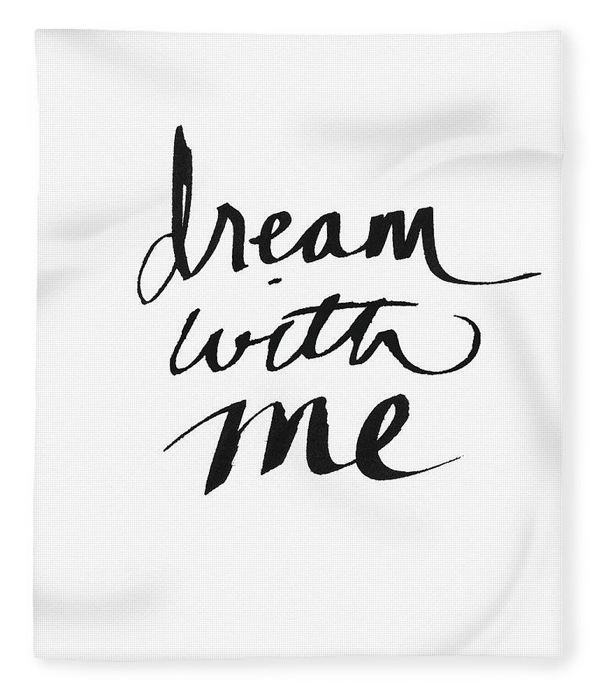 Dream Fleece Blanket featuring the painting Dream With Me- Art by Linda Woods by Linda Woods