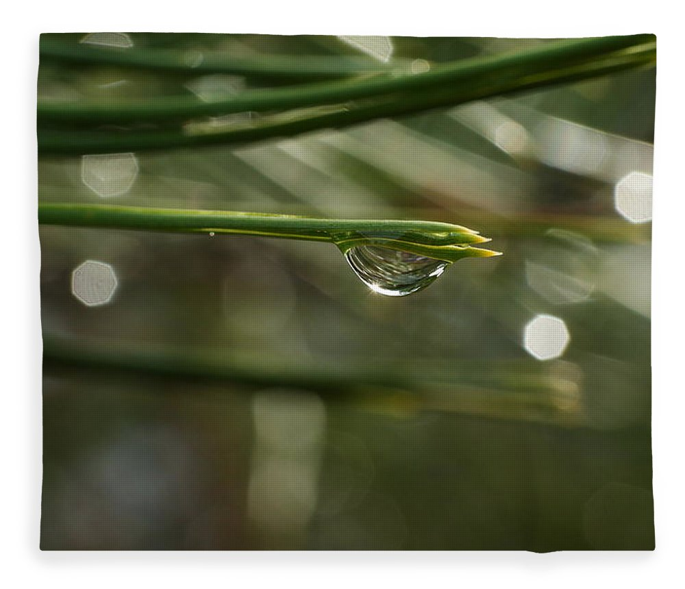 Water Fleece Blanket featuring the photograph Droplet by Jeff Swan