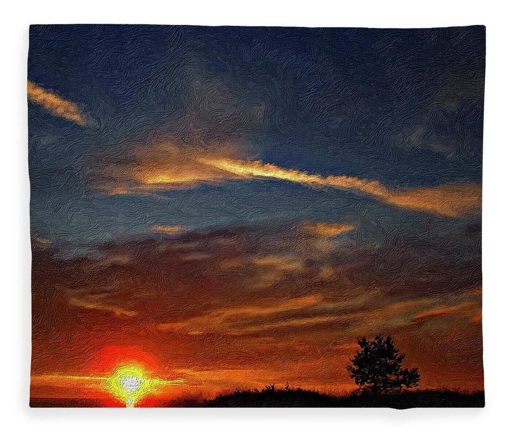 Sauble Beach Fleece Blanket featuring the photograph Dune Dreaming Impasto by Steve Harrington