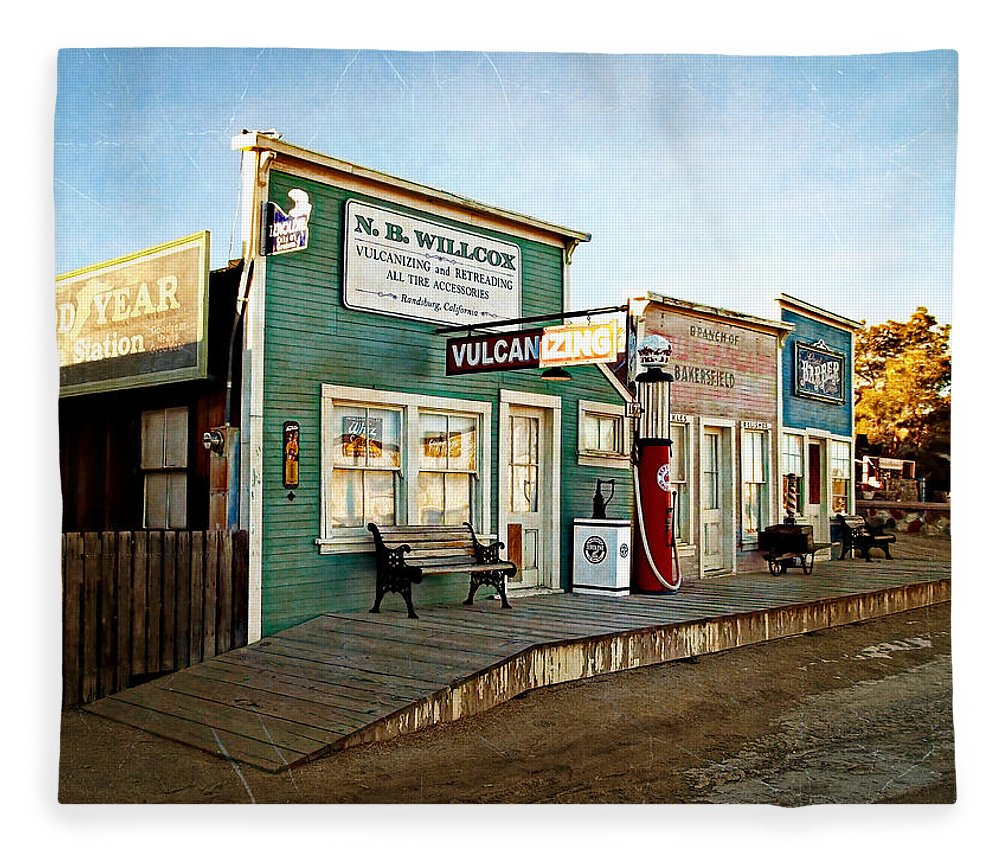 Randsburg Fleece Blanket featuring the photograph Early Morning In Randsburg by Glenn McCarthy Art and Photography