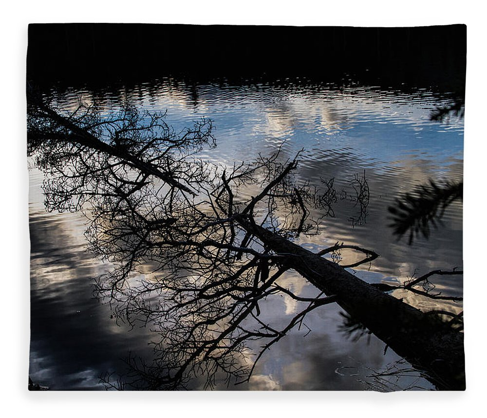 Reflection Fleece Blanket featuring the photograph Earth to Water by Alana Thrower