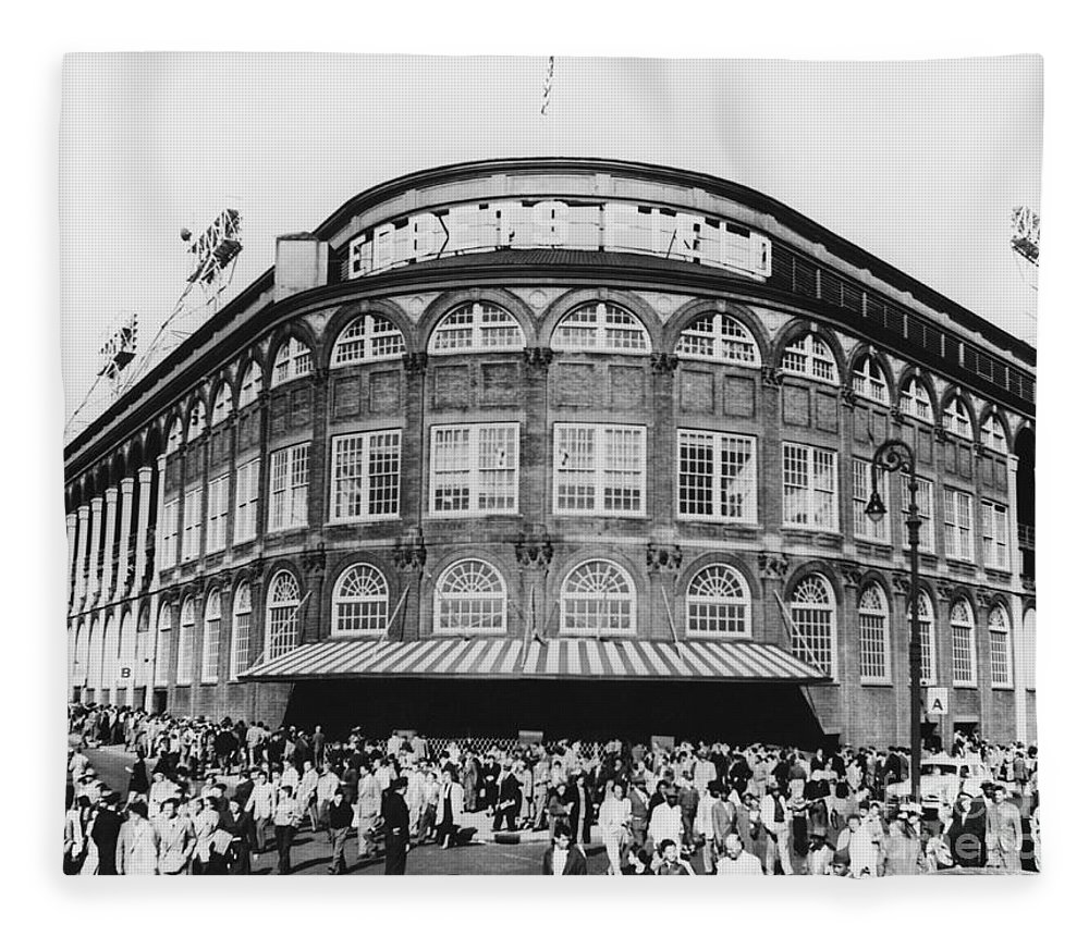 Historic Fleece Blanket featuring the photograph Ebbets Field, Brooklyn, Nyc by Photo Researchers