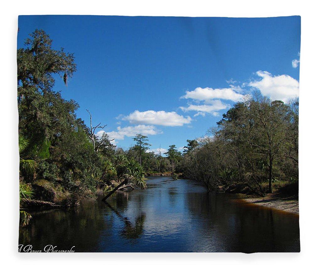Econlockhatchee River Fleece Blanket featuring the photograph Econlockhatchee River by Barbara Bowen