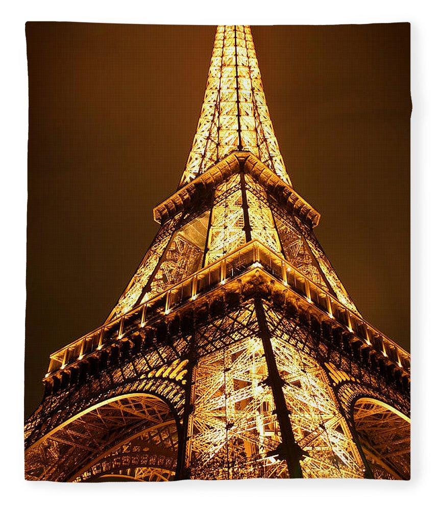 Eiffel Fleece Blanket featuring the photograph Eiffel by Skip Hunt