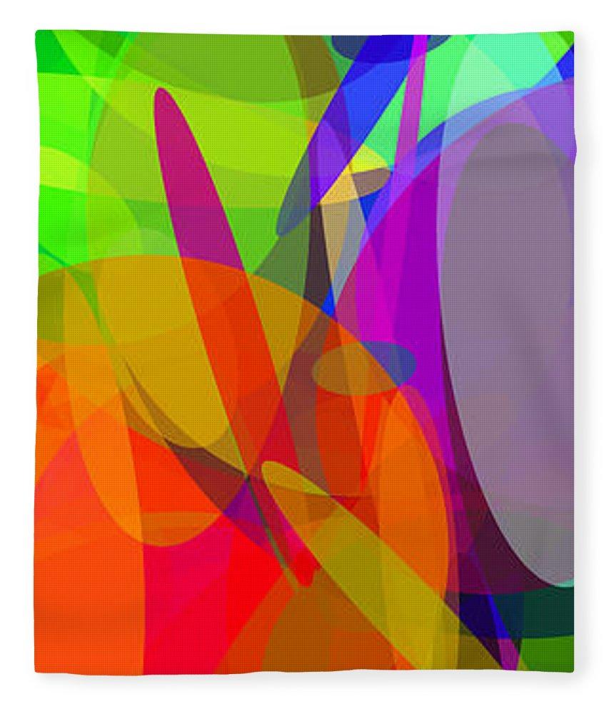 Ellipse Fleece Blanket featuring the digital art Ellipses 6 by Chris Butler
