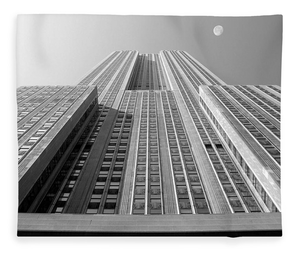 Empire State Building Fleece Blanket featuring the photograph Empire State Building by Mike McGlothlen