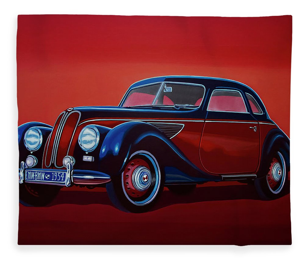 Emw Bmw Fleece Blanket featuring the painting Emw Bmw 1951 Painting by Paul Meijering