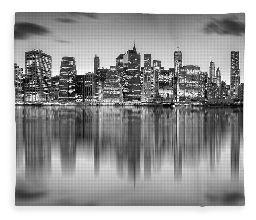 One World Trade Center Fleece Blanket featuring the photograph Enchanted City by Az Jackson