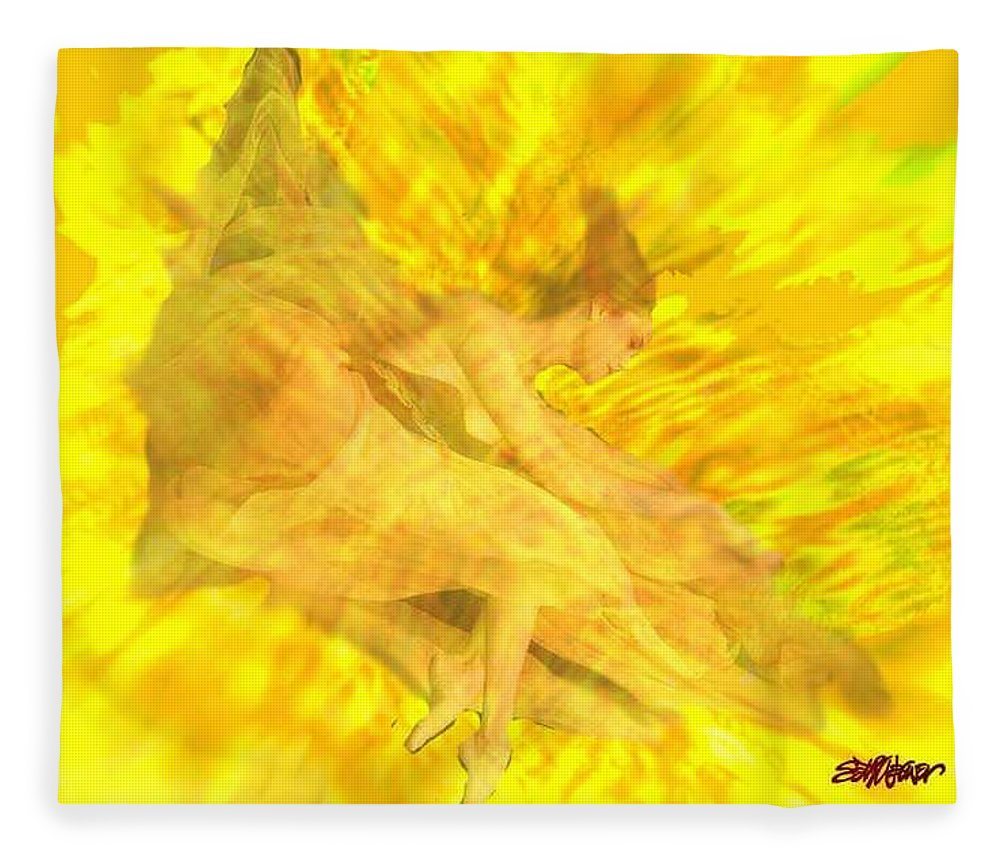 Joy Fleece Blanket featuring the digital art Endless Joy by Seth Weaver