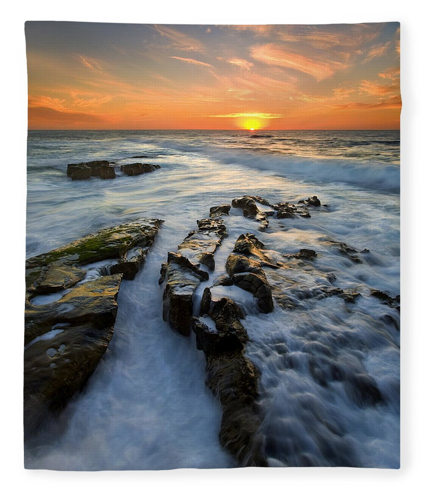 Sunset Fleece Blanket featuring the photograph Engulfed by Mike Dawson