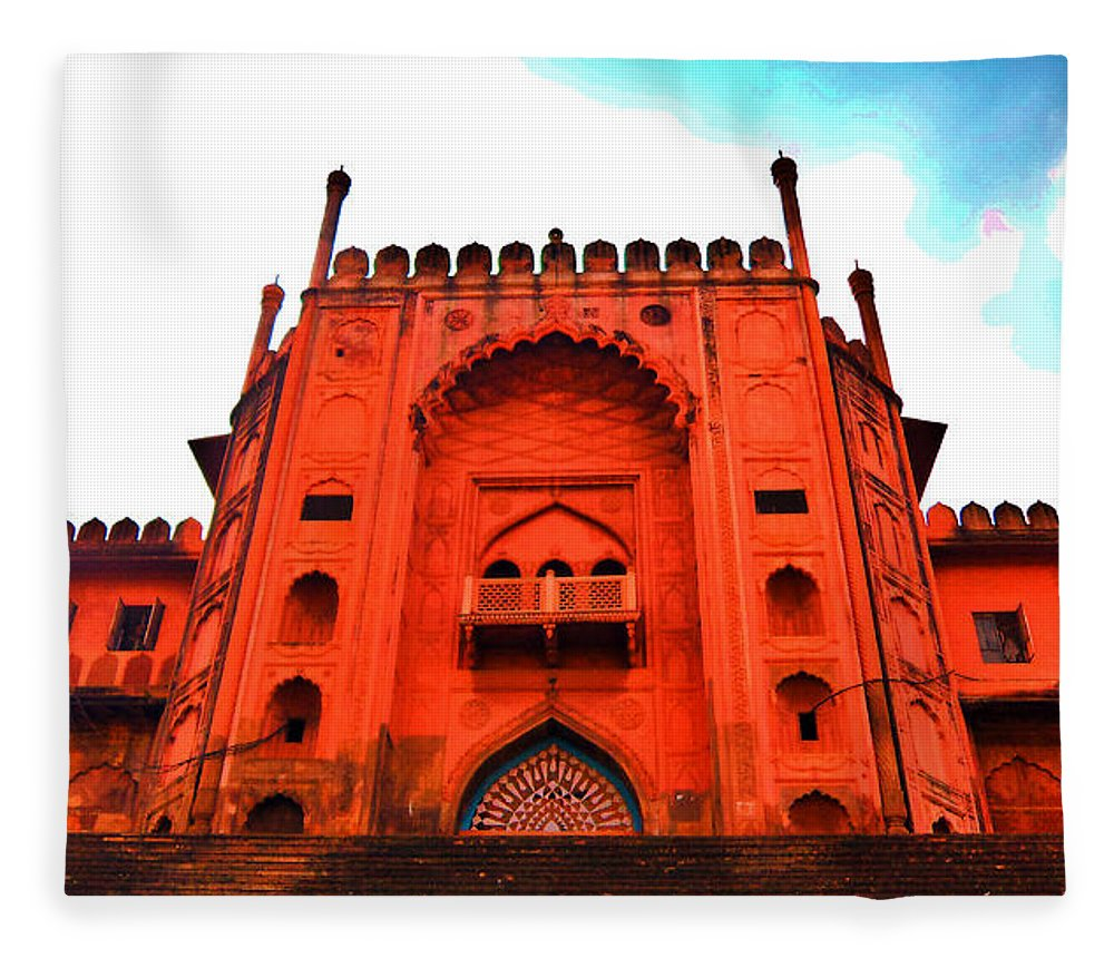 Architecture Fleece Blanket featuring the photograph #Entrance Gate by Aakash Pandit