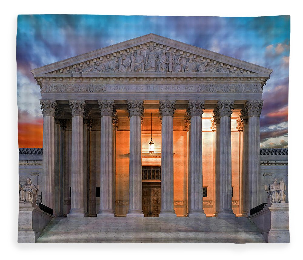 Supreme Court Fleece Blanket featuring the photograph Equal Justice Under Law by Daniel Hagerman