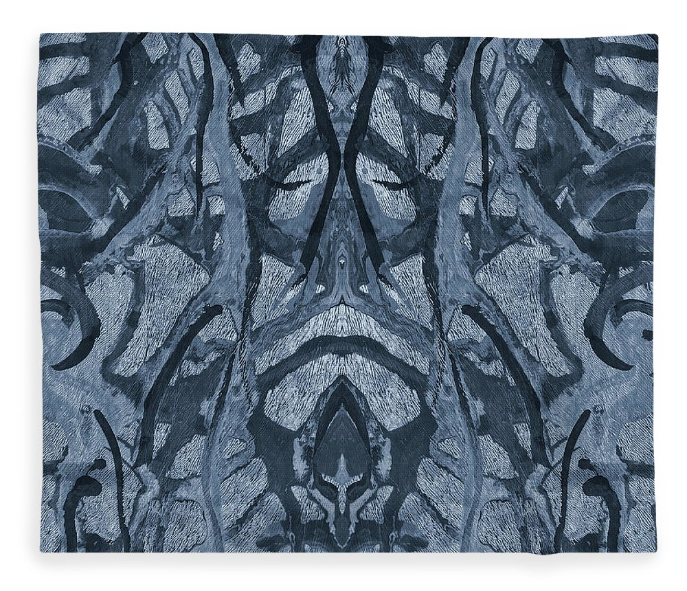 Evolutionary Branches Fleece Blanket featuring the mixed media Evolutionary Branches by Dan Sproul