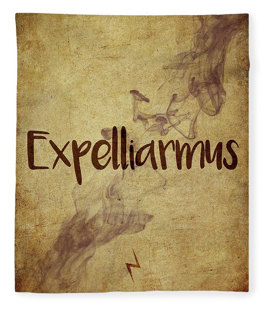 Harry Potter Fleece Blanket featuring the digital art Expelliarmus by Samuel Whitton